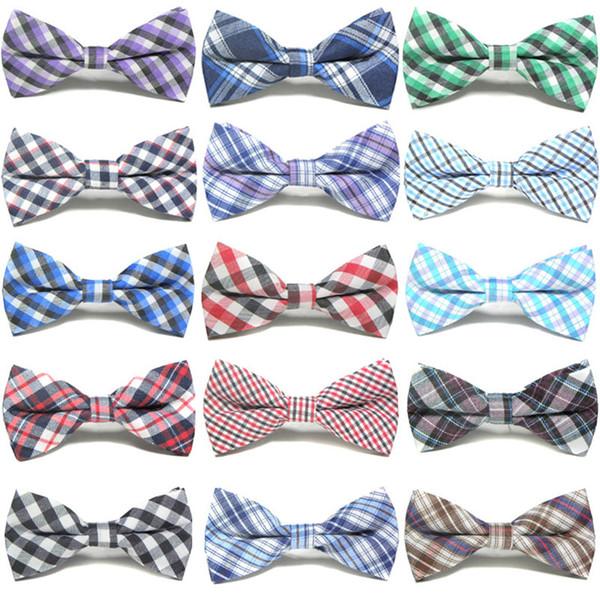 British style Baby Tie Children plaid Necktie Fashion Children Cute lattice Necktie Hot Kids Cotton and Adjustable Bow Tie C5934