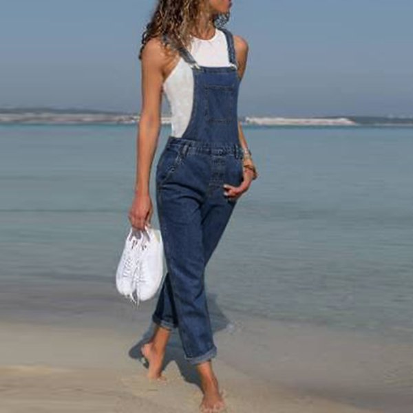 Women's Woman Jumpsuits Baggy Denim Dungarees Ladies Slim Fit Jeans Female Overall Pants Casual Long Trousers J190626