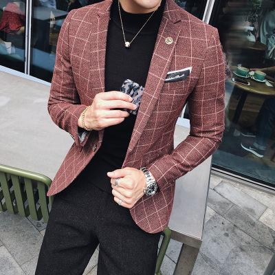 Autumn And Winter, The New British Little Suit, Male Korean Edition, Body Repair, Western Style Coat, Men's Fashion Trend