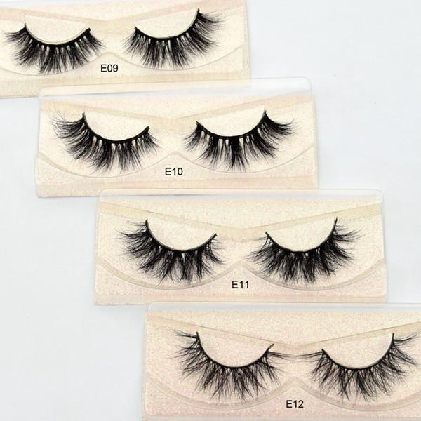 13 styles E series Eyelashes 3D Mink Lashes Handmade Mink Eyelashes Medium Volume Cruelty Free Mink False Eyelashes Fluffy Upper Lashes