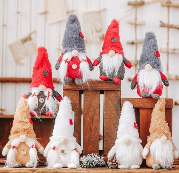 10pcs Forset Noel Peluş Yaşlı Adam Mix renk Noel Dekorasyon Süsleme Çocuklar için En İyi Hediye