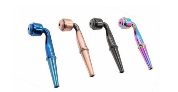Popular metal zinc alloy pipe short stem with pipe cover double electroplated creative convenient type of tobacco