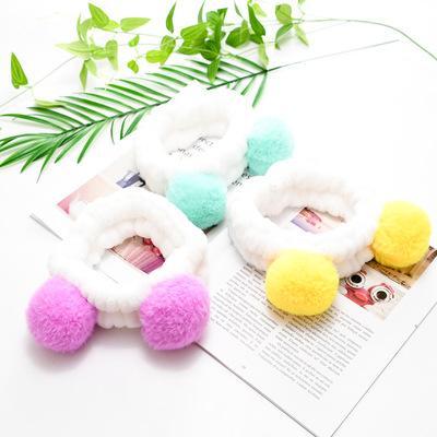 Elastico Cute Panda Ear Morbido Carol Fleece Fascia per il trucco delle donne Doccia lavaggio viso Spa Maschera avvolge la testa