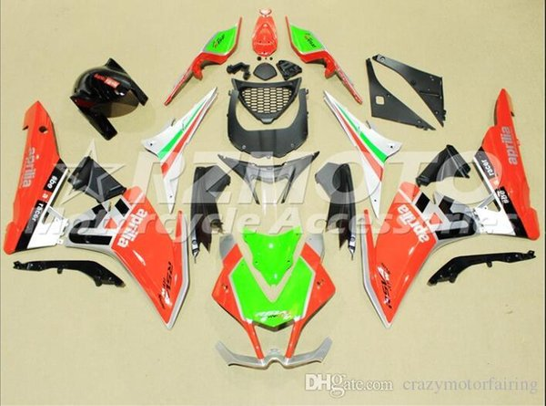 Motorcycle Fairings For Aprilia RSV4 1000 10 11 12 13 14 15 2010-2015 ABS Plastic Fairings Kit White Red Green F5