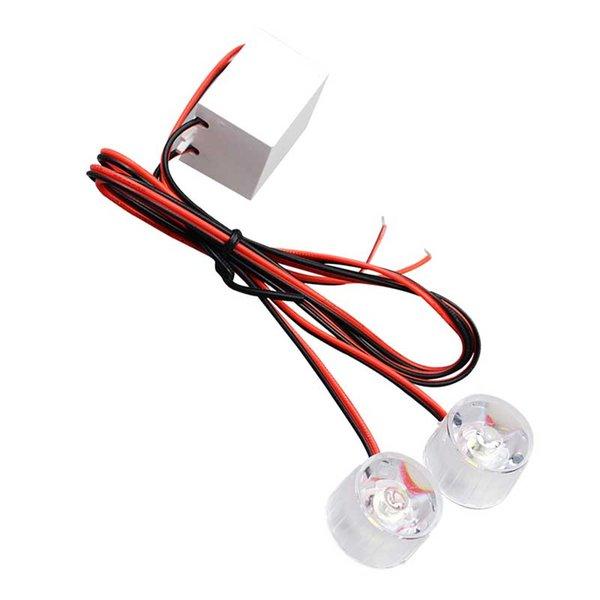 2x Motocicleta Águia Cat Eye Light 12-85 V Lâmpada Indicadora de Luz de Sinalização de Aviso da Cauda Constantemente Brilhante Explosão Vermelho Flash