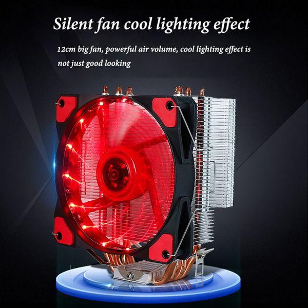 Computer desktop CPU Ventola di raffreddamento PC LED Dispositivo di raffreddamento a due modalità di alimentazione
