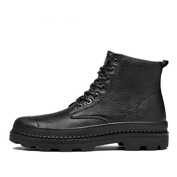 Men Boots Size 38-46 Designer Mens Shoes Autumn Waterproof Snow Boots Lace Up Men Ankle Boots Warm Winter Shoes Male