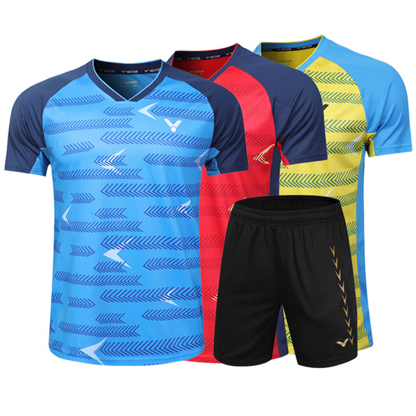 top popular VICTOR Badminton Jersey ,Tennis Shirts Clothes,Badminton Tennis competition attire,Breathable Sport sportswear Tennis tracksuit,Free shippin 2020