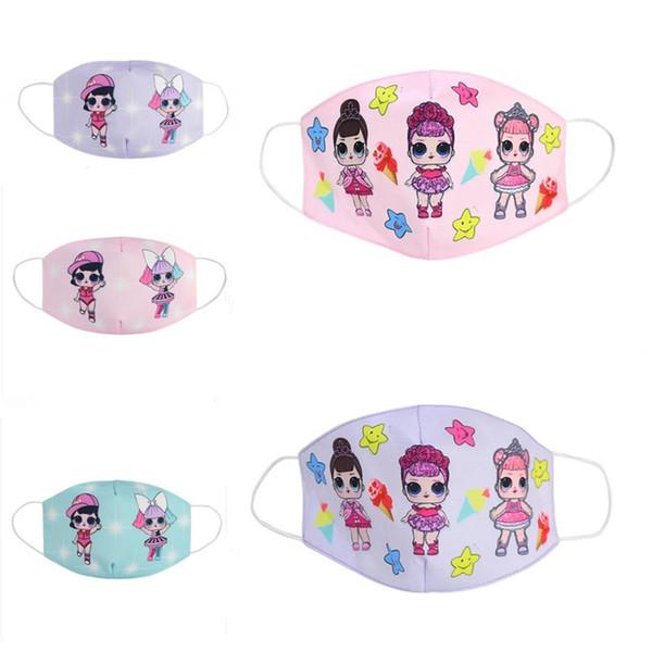 best selling 9style girl Cute cartoon doll Mask Adult Kids Fun Fancy Dress Lower Half Face Mouth Muffle Mask Reusable Dust Warm Windproof Cotton Mask