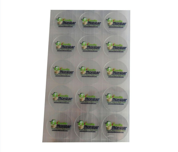"""best selling 2""""square shape transparent sticker with quantity 5000pcs 1""""square shape transparent sticker with 5000pcs"""