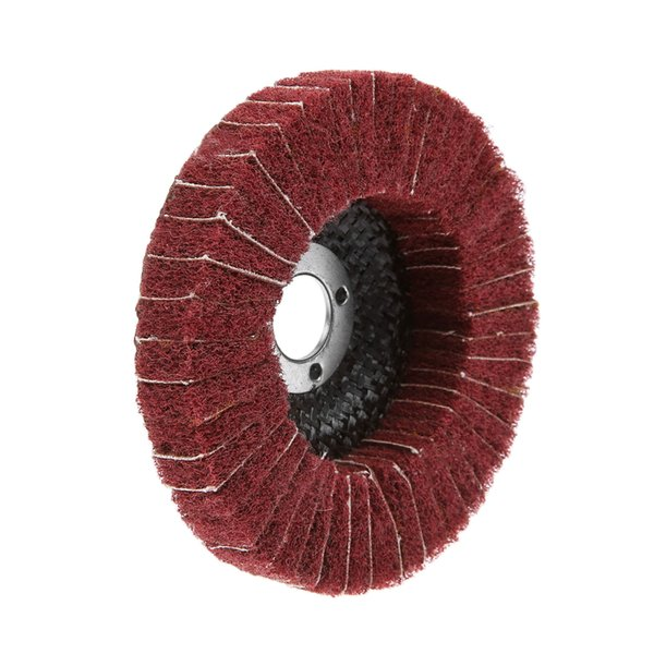 """best selling isc for angle grinders DRELD 1Pc Dremel Accessories Red 100mm 4\"""" Nylon Fiber Flap Polishing Grinding Wheel Disc for Angle Grinder Polish..."""