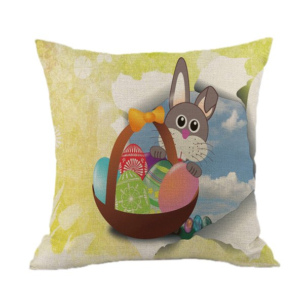 45*45cm Easter Square Cushion Cover 1pcs Sofa Bed Home Decoration Festival Pillow Case Cushion Cover Housse Coussin