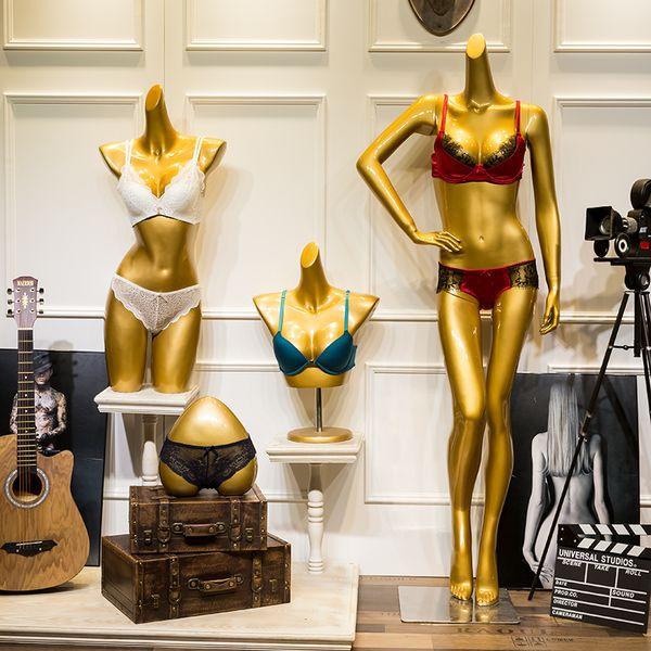 Estilo de moda Ropa interior de oro Maniquí Modelo de lencería Venta directa de fábrica