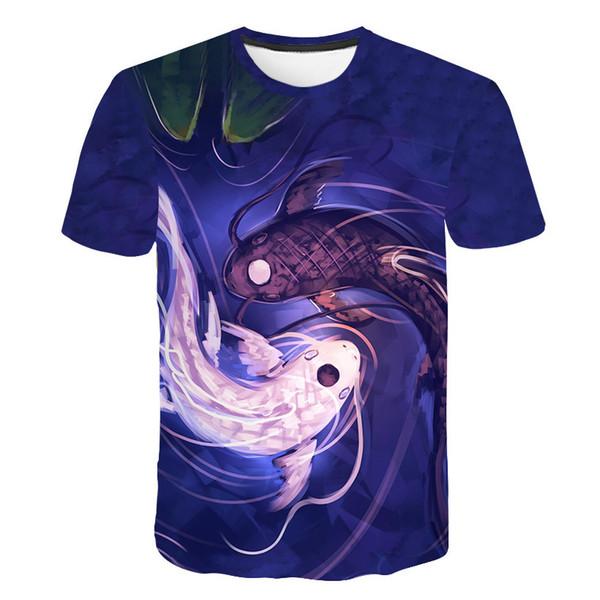 Shark T Shirt Men Sea Tshirt Punk Rock Clothes 3d T-shirt Animal Rap Hip Hop Tee Fitness Mens Clothing 2019 New Casual Tops