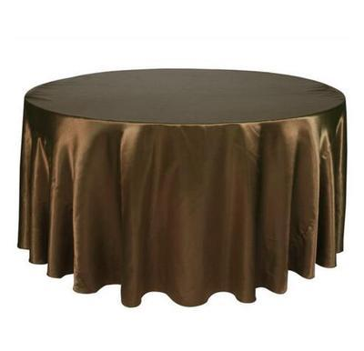 top popular 140cmx140cm Hotel Tablecloth Solid Round Satin Table Cloth For Christmas Wedding Party Hotel Restaurant Banquet Decor from Nantong Jiangsu 2020