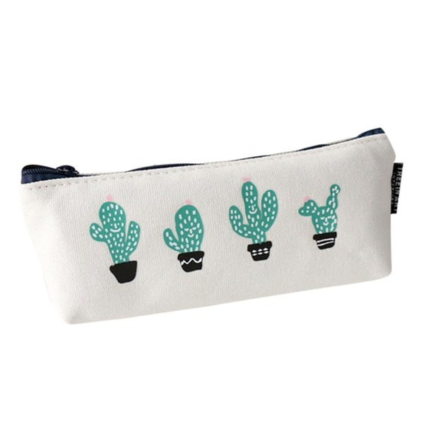 Sleeper #501 2019 New fashion Cute Plants Stationery Pencil Pen Case Cosmetic Makeup Bag Zipper Pouch Case small Free shipping