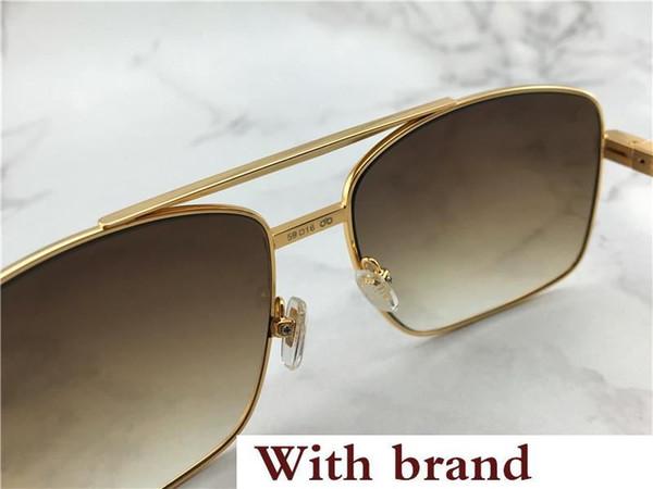 b7c4bf3d45963 Homens clássicos óculos de sol ao ar livre atitude ouro quadrado projeto  quadro uv400 proteção eyewear