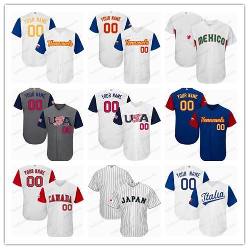 2017 clássico de beisebol do mundo Daniel Murphy Paul Goldschmidt Buster Posey Giancarlo Stanton Qualquer nome número costurado Mens jersey