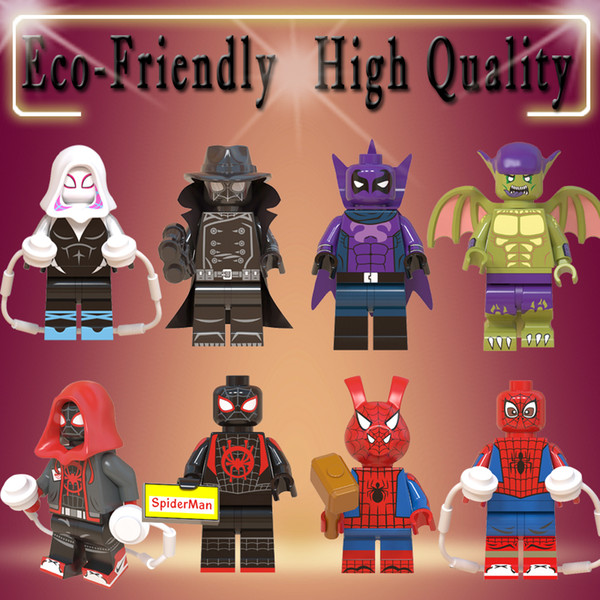 figures Marvel mini Action Figure Super Heroes Spider-Man Noir Gwen Ham Spiderman Prowler Building Blocks Toys for kids WM6052