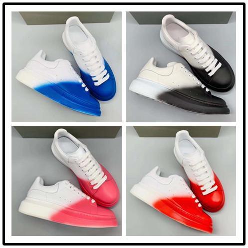 New Hot 3 M Sapatos de Grife Reflexivo Moda Feminina de Luxo Sapatos de Couro dos homens Lace Up Platform Sole Sneakers Branco Preto Sapatos Casuais 150