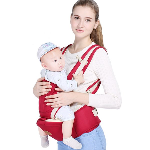 Ergonomic Baby Carrier Infant Kid Baby Hipseat Sling Front Facing Kangaroo Wrap Carrier For Travel 0-18 Months