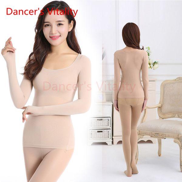 Costume de danse du ventre de la vitalité du danseur Haute chair élastique Couleur Bottoming Shirt Modèles féminins Danse Invisible Vêtements Vêtements Collants