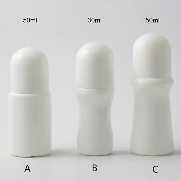 Rotolo di plastica vuoto semplice di PP di 30x 30ml, 50ml su rullo di plastica Rotolo di deodorante da viaggio portatile sul contenitore all'aperto