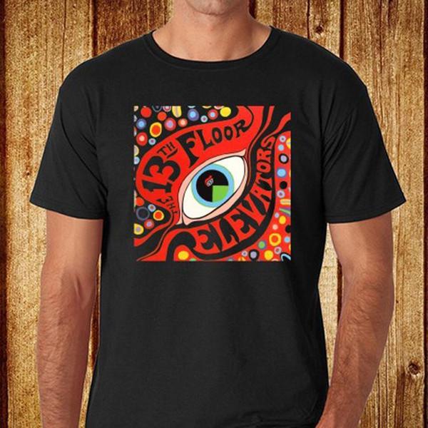 13. Kat Asansörler Rock Grubu erkek Siyah T-Shirt Boyutu S-3XL Ücretsiz Kargo Baskılı Erkek T-shirt Elbise üst tee