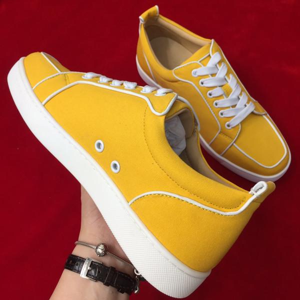 2019 moda stil koşu ayakkabıları nefes ve rahat rahat düşük üst spor ayakkabı çift deri reaksiyon ayakkabı sarı renk