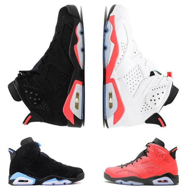 New mens INFRARED 6 6s basketball shoes Carmine UNC MAROON BLACK CAT oreo Toro men trainers shoe sports sneakers size 41-47 Free Shipping