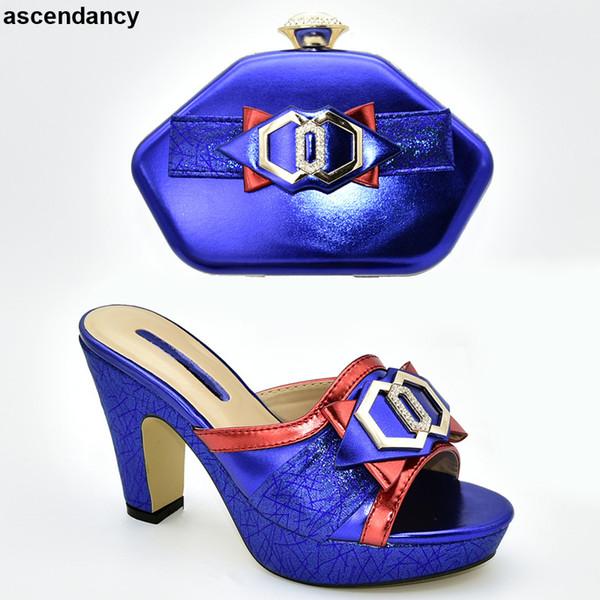Nueva llegada Rhinestone de las mujeres zapatos de la boda y conjunto de la bolsa de zapatos de la boda y la bolsa de zapatos Tacones italianos Bombas de fiesta para mujer Zapatos elegantes