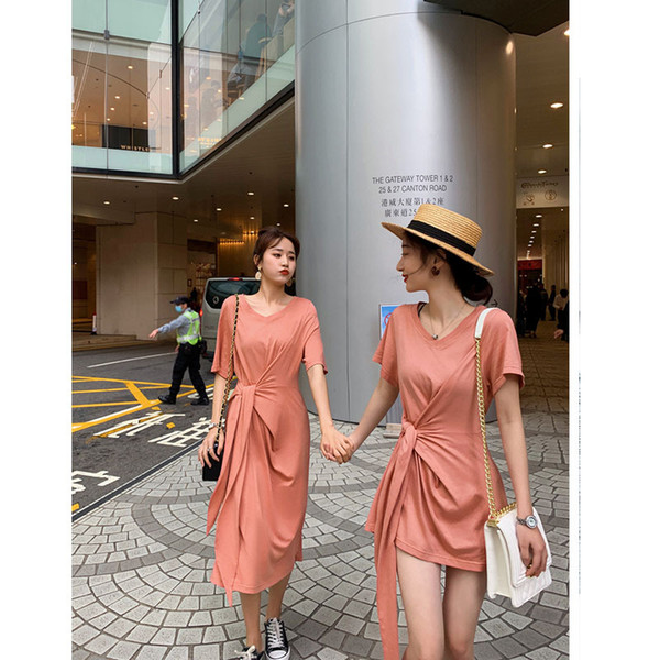 Rock Kinder Xia Schwestern Kleid Sommer Damenbekleidung mit Taille Kleid Mädchen T-Shirt Rock