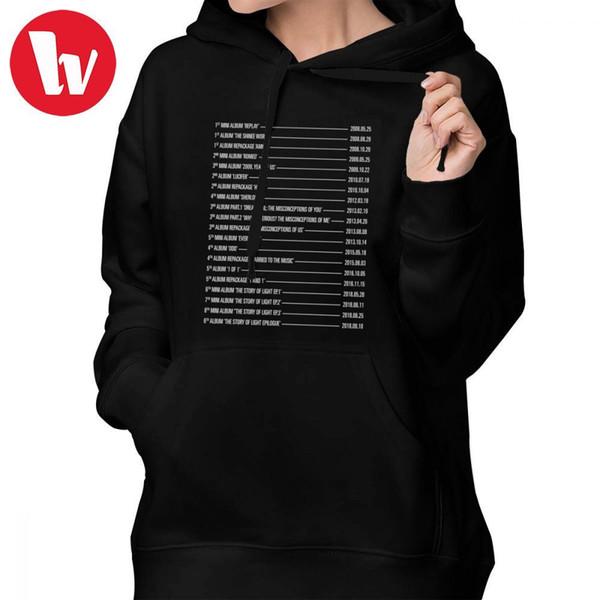 2019 Shinee Album Hoodie SHINee Albums Hoodies Large Cotton Hoodies Women  Long Sleeve Streetwear Graphic White Kawaii Pullover Hoodie From Lichunn,