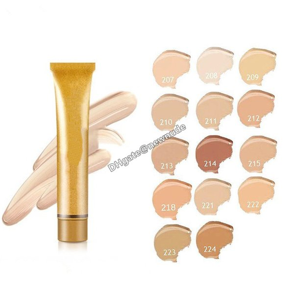 Best Quality! Brand 14 colors Cream Liquid Yellow Glold Concealer Face & Body Foundation Primer Cosmetics Free Shipping