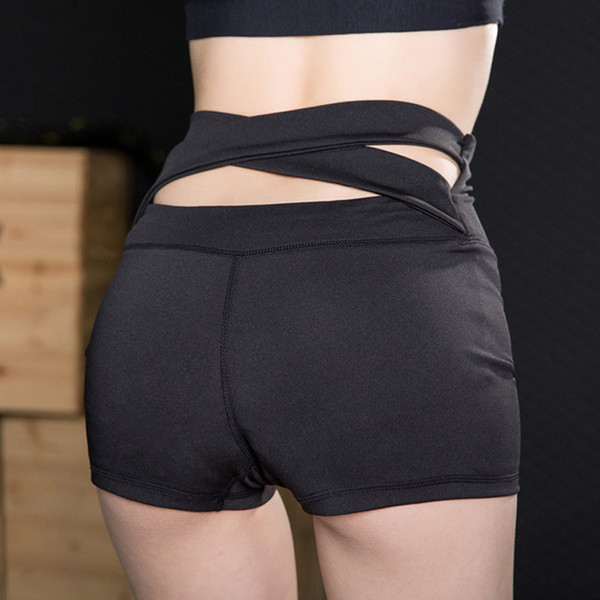 Women Fitness Shorts High Waist Quick Dry Tight Athletic Pants for Yoga SMN88