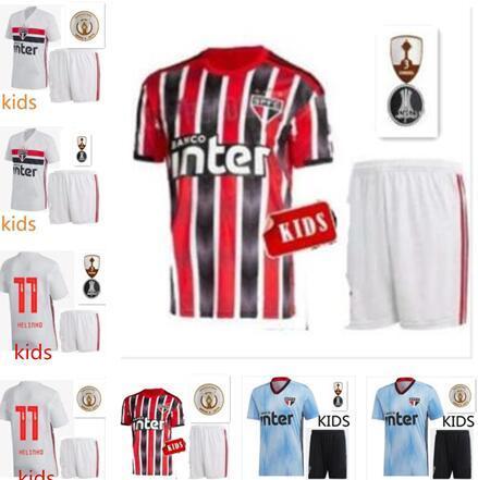 NENE 19 20 São Paulo Jersey preta afastado vermelho Futebol TOP 2019 camisa de futebol ARBOLEDA REINALDO Brasil Clube Início Branca Adulto Crianças DIEGO SOUZA