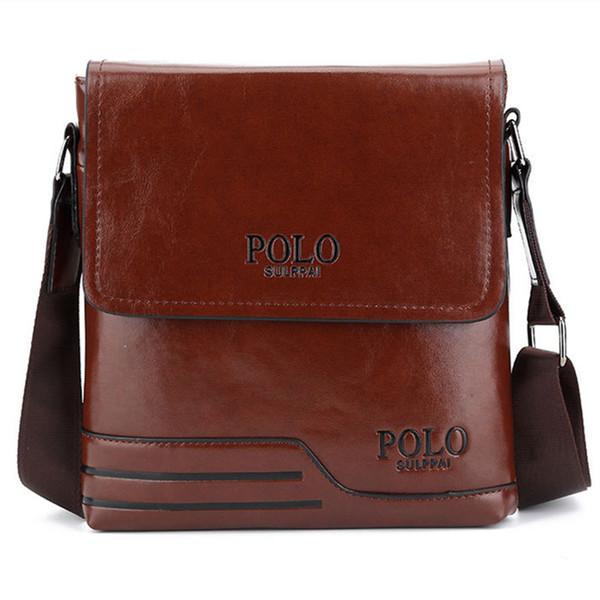 Henghsheng Brown Men Shoulder Bag Quality Leather Male Crossbody Bag Men Messenger Fashion Black Vertical