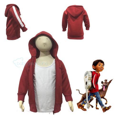 USA-Kind-Karikatur Kleidung Coco Anime Jungen Miguel Kinder Zip Hoodies-Mantel mit Kapuze
