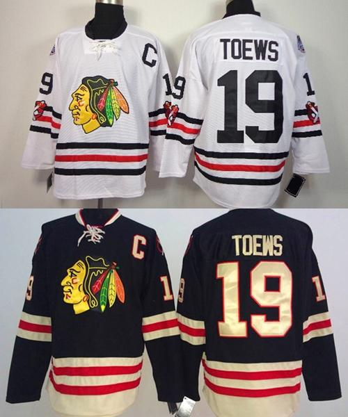 New Arrival !!! 2016 Winter Classic Chicago Blackhawks Jersey #19 Jonathan Toews White Black Cheap Jerseys, Free Shipping