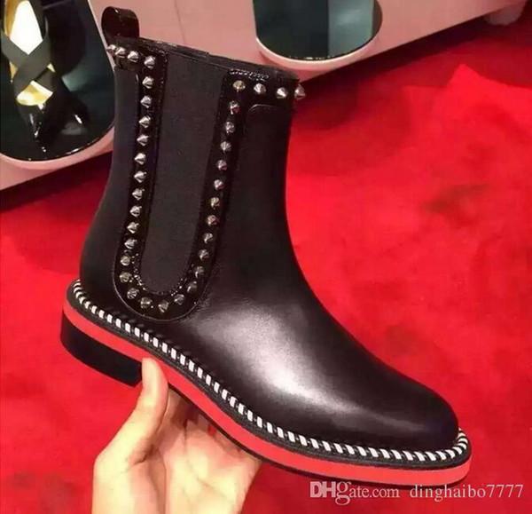 overseas2019 bottes plates en daim avec chaussures à lacets