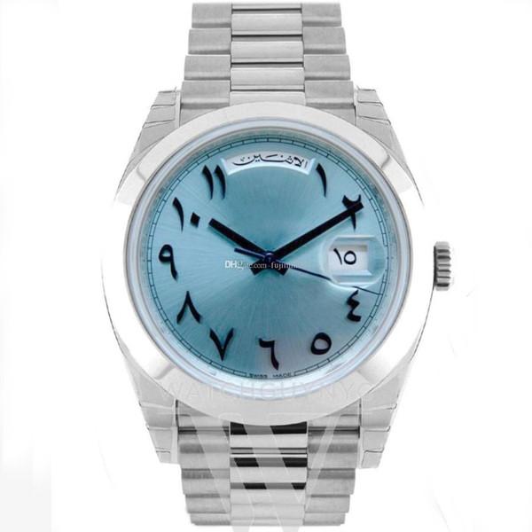 2019 hombres reloj 40mm DayDate Antiguo árabe reloj mecánico automático Sin movimiento de batería movimiento de acero inoxidable