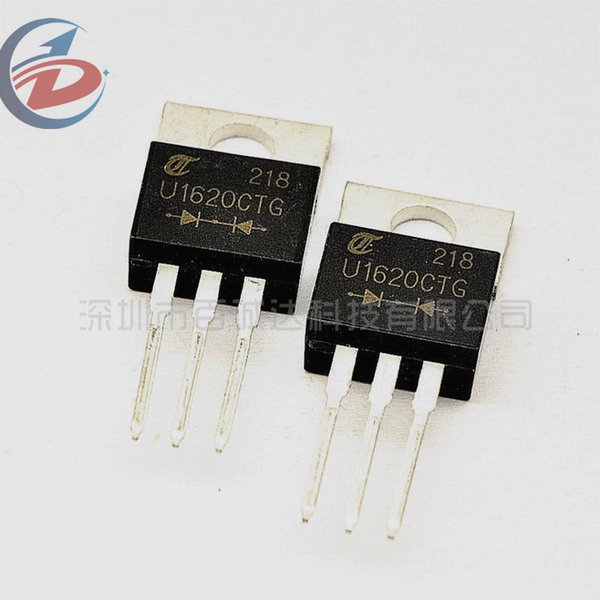 100Pcs/Pack TO-220 200V 16A Fast Recovery Rectifier Diode U1620G MUR1620 MUR1620CT MUR1620CTG