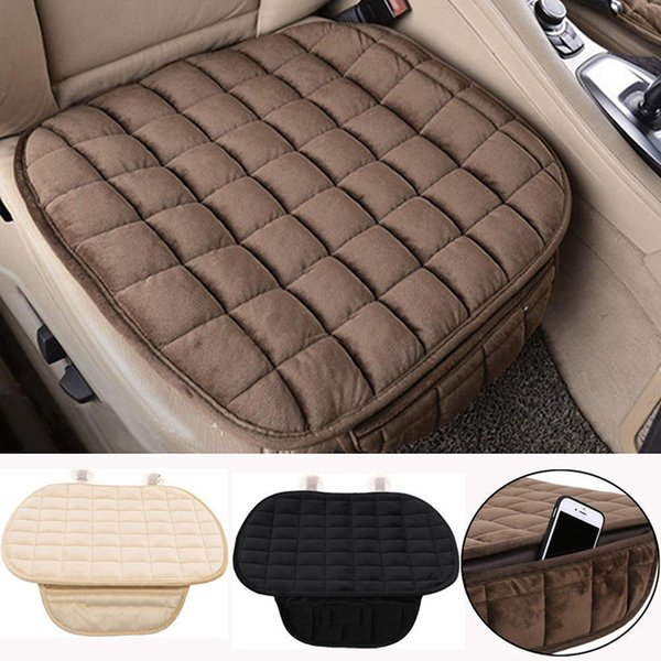 49*52cm Winter Warm Car Seat Cover Cushion Short Plush Velvet Front Car Chair Pad Vehicular Seat Protector Auto Accessories