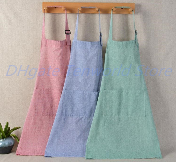 top popular Adjustable Adult Antifouling Apron Restaurant Waiter Waitress Working Apron Dustproof Steel Cotton Coverall Apron 50 Pieces 2020