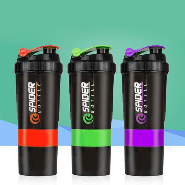 Shaker-Flasche für Sport PP5 BPA-frei unzerstörbar auslaufsicher Protein Shaker-Cup messbare rutschfeste Milchshake-Cups