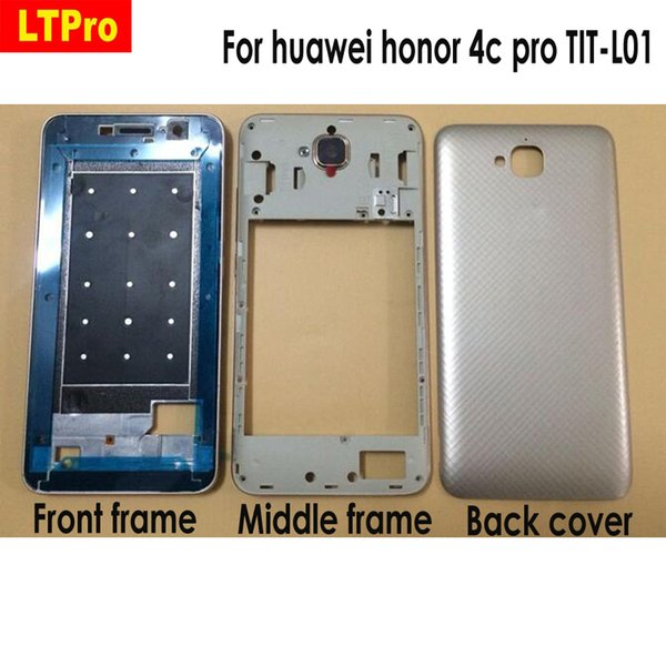 wholesale For huawei honor 4c pro 4cpro TIT-L01 LCD Faceplate Frame Front Middle Frame Housing Battery Door Back Cover Housing