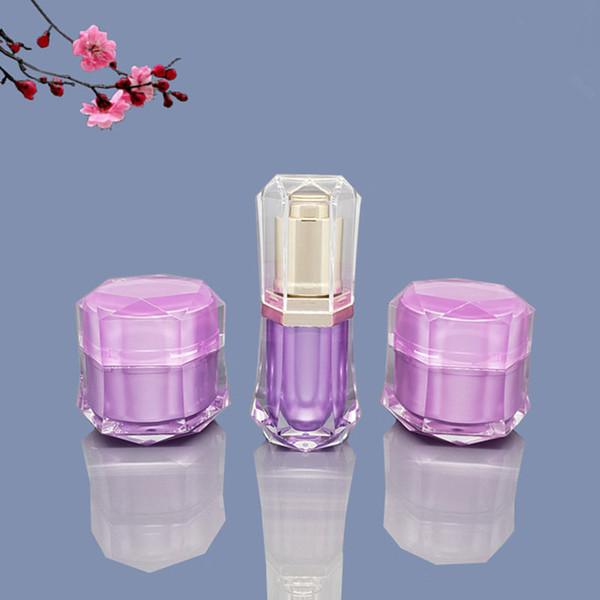10g Crema cosmética Jar Pot 10 ml acrílico loción bomba botella DIY contenedor recargable viajes F2269
