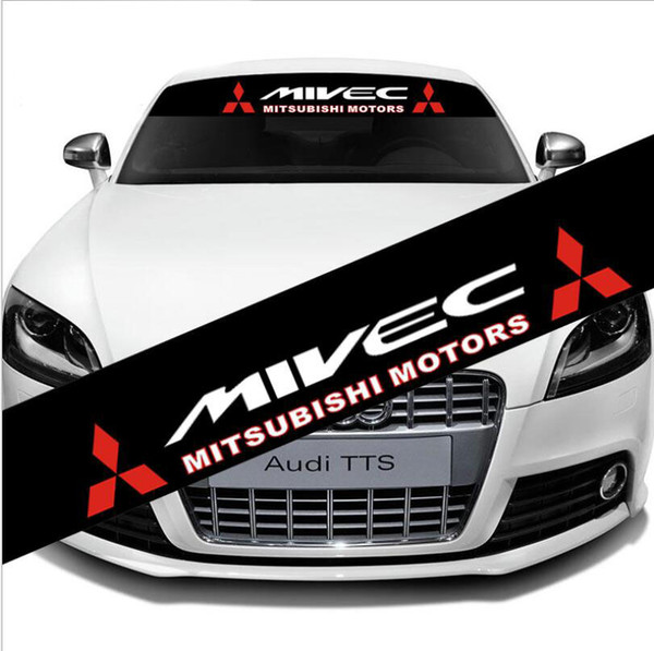 Car Front Rear Windshield Banner Decal Reflective Sticker For MIVEC Mitsubishi