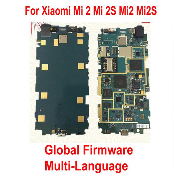 Global Firmware Original Unlock Work Mainboard For Xiaomi Mi 2 M2 Mi2 Mi 2S M2S Mi2S WCDMA Motherboard fee Circuits flex cable