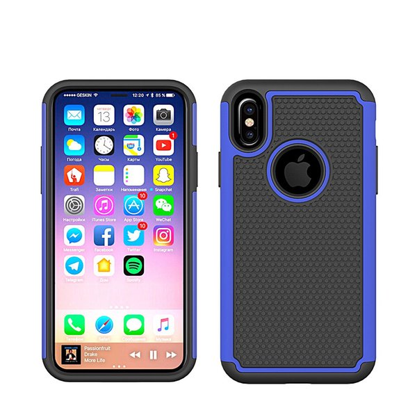 For Huawei Mate 9 10 Pro Honor 7x 6x Gr5 2017 Shock Absorbing Hybrid Plastic Outer Rubber Silicone Inner Defender Rugged Cover Case